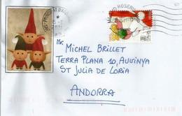 ITALIA. NATALE 2019 / Lettre Noël Italie, Adressée à Andorra, Avec Timbre à Date Arrivée - Natale