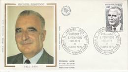 FDC 1975 GEORGES POMPIDOU - 1970-1979
