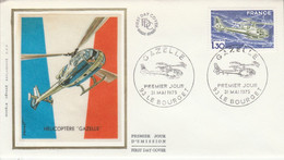FDC 1975 HELICOPTERE GAZELLE - 1970-1979