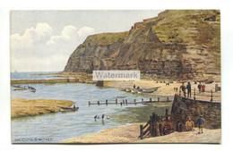 A R Quinton Postcard No. 3174 - The Cliffs, Staithes, Yorkshire - Quinton, AR