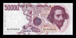 Italia Italy 50000 Lire Gian Lorenzo Bernini 1984 Pick 113a EBC XF - 50000 Liras