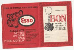 CYCLISME - ESSO - TOUR DE FRANCE 1965 - BON POUR UN PORTE CLE TIGRE - Publicidad