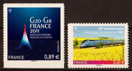 2011  Autoadhésifs  N° 598 Et 603  Neufs** (cote Yvert: 10.00€) - Autoadesivi