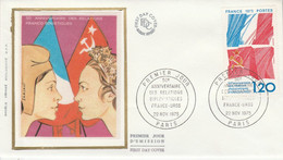 FDC 1975 RELATIONS FRANCE-URSS - 1970-1979