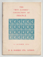 """The """"Boy-Landry"""" Collection Of FRANCE, 1953 Harmers Auction Catalogue - Cataloghi Di Case D'aste"""