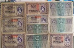 Lot  De 180 Billets 1000 Kronen 1902 & 10 Billets 10.000 Kronen 1918.⁰ - Austria