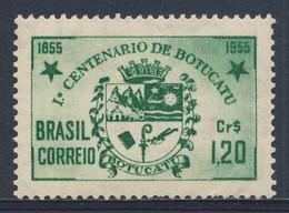 Brazil Brasil 1955 Mi 878 YT 604 SG 926 * MH - Arms - Cent. Botucatu 1855-1955 (state São Paulo) / Stadtwappen Botucatu - Sellos