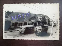 Cholon. Saïgon. Autobus. Tramway. Photo Format Carte Postale - Vietnam