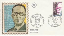 FDC 1974 JEAN GIRAUDOUX - 1970-1979