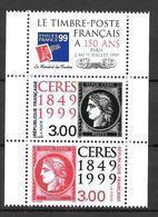 Année 1999 : Y. & T. N° 3211 ** Et 3212 ** Avec Vignette - Unused Stamps