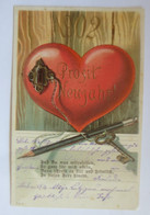 Neujahr, Jahreszahl, Schlüssel Zum Herzen,   1911  ♥  (58280) - Neujahr