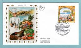 FDC Monaco 1994 - XXVe Anniversaire De La Confrérie Culinaire Du Grand Cordon D'Or De La Cuisine Française - YT 1934 - FDC