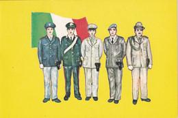 A8998- COPRI DI POLIZIA, POLICEMENS ITALIA , MILANO CENTRO 1986 USED STAMP ON COVER POSTCARD - Policia – Gendarmería