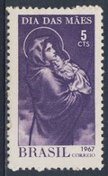 Brazil Brasil 1967 Mi 1135 YT 822 SG 1174 ** Madonna And Child, Mothers'Day / Muttertag, Madonna Mit Kind; Gemälde - Giorno Della Mamma