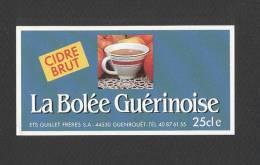 Etiquette De Cidre Brut -  La Bollée Guérinoise  -  Ets Guillet Frères  à  Guenrouet  (44) - Non Classés