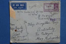 B75  INDIA BELLE LETTRE  RARE  CENSUREE 1941 PAR AVION   POUR MADAGASCAR  +AFFRANCHISSEMENT INTERESSANT - Zonder Classificatie