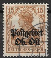 Lithuania, Ober Ost, German Occupation 1916 15Pf. Michel 6. Wladislawow Postmark, Kudirkos Naumiestis Lithuania - Occupation 1914-18