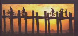 "Carte ( 23 X 10.5 Cm ) "" Pont D'U Bein, Amarapura, Myanmar "" Par Christophe Boisvieux - Andere Fotografen"