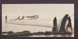 """Carte ( 23 X 10.5 Cm ) """" Plage De Puri, Orissa, Inde """" Par Christophe Boisvieux - Andere Fotografen"""