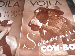 VOILA 34/ COW BOY/DOUMERGUE BLUM /OUBANGUI FILLES/BASIL ZAHAROFF/ CHAPEAU LONDON/SALON AMOUR/AFRIQUE COLONISATION/GUERRE - 1900 - 1949
