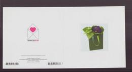 """Carte Carrée, à Plier ( 24 X 12 Cm ) """" Violettes """" Par Danielle Coquille - Andere Fotografen"""