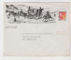 STRASBOURG, Belle Enveloppe Illustrée De 1966 Pour Bordeaux - 1961-....