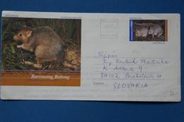 B85  AUSTRALIA  BELLE LETTRE AEROGRAMME 2002 PAR AVION   ADELAIDE  POUR BRATISLAVA SLOVAKIA+AFFRANCHISSEMENT INTERESSANT - Lettres & Documents