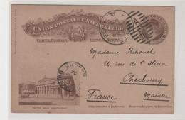 """URUGUAY: Entier Illustré à 5c De Montévidéo Pour Cherbourg, """" à Bord Du Duguay Trouin """" De 1903 - Uruguay"""