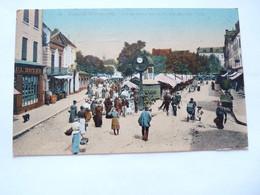 A Vendre Très Belle Carte Colorisé De Chalon Sur Saône .Le Marché De La Place  BAUME Boutique BOYER Petit Prix - Chalon Sur Saone