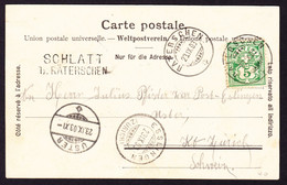 1903 Heimat, Stabstempel Schlatt B. Räterschen Auf AK: Gruss Aus Elgg - Covers & Documents