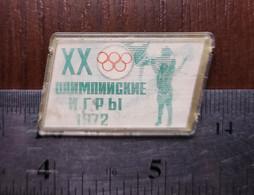Sport Soviet Lenticular Badge Pin USSR 1972 Summer Olympics Munich Games Of The XX Olympiad München - Giochi Olimpici