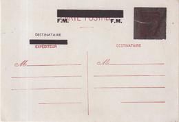 FRANCE : ENTIER POSTAL .  1F20 . TYPE PETAIN . CP . 3 RECTANGLES NORS . FM EN SURCHARGE . 1944 . - Standaardpostkaarten En TSC (Voor 1995)