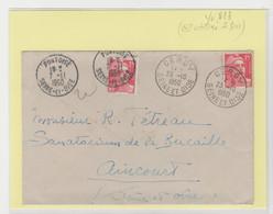 CURIOSITE: Env. Utilisée 2 Fois, à Cergy En 10/50 Et à Pontoise En 11/50 Sans Rejet De La Poste. Peu Courant - 1921-1960: Periodo Moderno