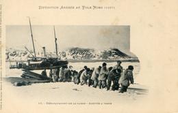 718G....EXPEDITION ANDREE AU PÔLE NORD (1897). Débarquement De La Caisse. Arrivée à Terre - Missions