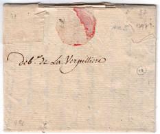 ISERE PRECURSEUR XVIIIè - DEBOURSE DE LA VERPILLIERE MANUSCRIT SUR LAC DU 18 FRUCTIDOR AN 5 - SUP - 1701-1800: Precursors XVIII