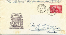 Canada Cover First Flight Fort Grahame - Fort St. John 15-1-1937 - Covers & Documents