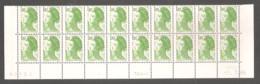 LIBERTE 1985. Bas De Feuille X 20 TP. N°2375** 1 F.80 Vert- Daté Du 2.7.85 - 3ème Tirage Sur TD6-8. + Repère 2 Traits. - 1982-90 Vrijheid Van Gandon