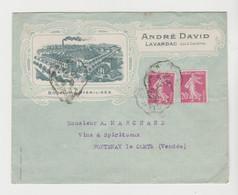 LOT & GARONNE: A. DAVID, Bouchons Stérilisés à LAVARDAC / LSC De 1928 Pour Fontenay Le Comte - 1921-1960: Periodo Moderno