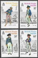 British Virgin Islands. 1972 Interpex Stamp Exhibition. Naval Uniforms. MNH Complete Set. SG 271-274 - British Virgin Islands