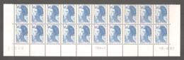 LIBERTE 1987. Bas De Feuille X 20 TP. N°2485** 3 F.60 Bleu - Daté Du 3.8.87 - 1er Jour-1er Tirage > TD6-8.+Rep.2 Traits. - 1982-90 Vrijheid Van Gandon