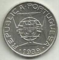 10 Escudos 1939 S. Tomé Silver - Sao Tome And Principe