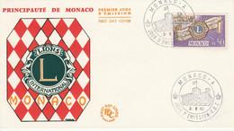 MONACO FDC 1963 LIONS CLUB - FDC