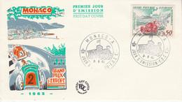 MONACO FDC 1963 GRAND PRIX D'EUROPE AUTO - FDC