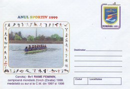 ROMANIA 1999: ROWING, WOMEN, Unused Prepaid Cover 167/1999 - Registered Shipping! - Entiers Postaux