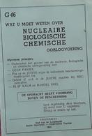 Wat U Moet Weten Over Nucleaire, Biologische En Chemische Oorlogvoering, Drieluik, 1964 - Praktisch