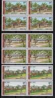 1977 Wallis Et Futuna N° 203 à 207 (x4) Nf**. MNH . Bloc De 4 . Bâtiments Et Monuments - Unused Stamps