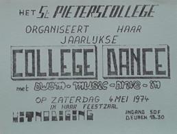 Uitnodiging College Dance In De Feestzaal Van Het Sint-Pieterscollege Te Jette - Praktisch