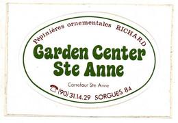 Pub Autocollants - Sorgues 84 - Pépinières Ornementales Richard - Garden Center Ste Anne. - Autocollants