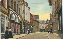 VENLO : Vleeschstraat - RARE VARIANTE - Petit Défaut Coin Supérieur Gauche Coupé - Cachet De La Poste 1913 - Venlo