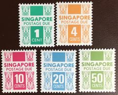 Singapore 1981-83 Postage Due Set MNH - Singapur (1959-...)